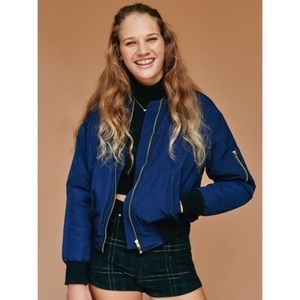 UNIF by UO Navy Blue Bomber Jacket